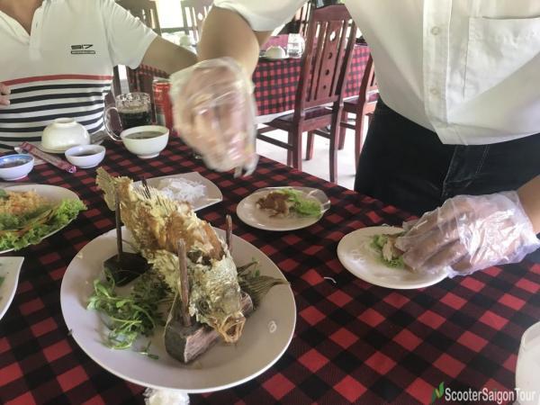 Deep Fried Elephant Ear Fish In Mekong Delta 2