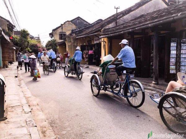 Riding Cyclo In Hoi An 2