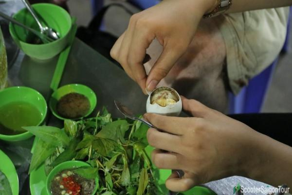 How To Eat Boiled Fermented Duck Egg In Vietnam 5