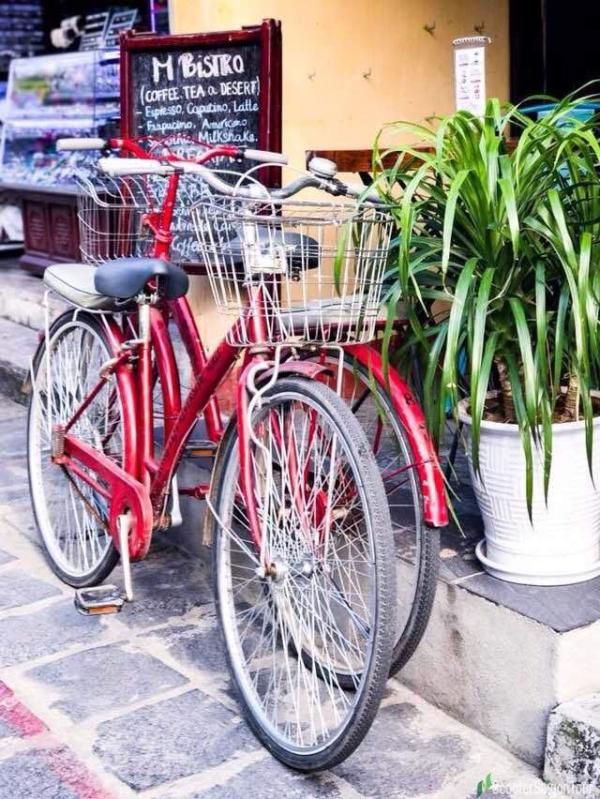 Riding Bycicle In Hoi An