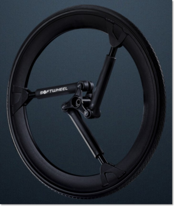 Softwheel provides a new kind of shock absorber for bicycles.