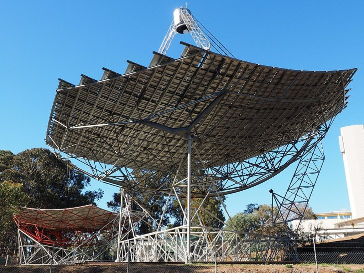 A solar concentrator, this one at the Australian National University.