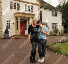 Linzi Drew-Honey with son actor Tyger drew-honey - 2011