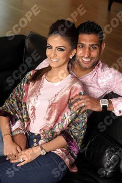 Boxer Amir Khan and wife Faryal at home in Bolton - 2013