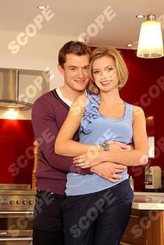 Rachel Riley celebrates her engagement to Jamie Gilbert - 2011