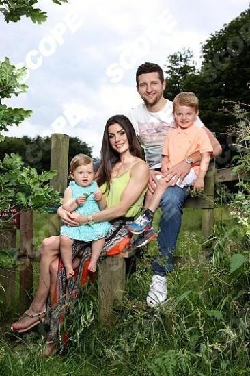 Boxing Champion Carl Froch with fiancee Rachael Cordingley and their children, Natalia, one and four year old Rocco