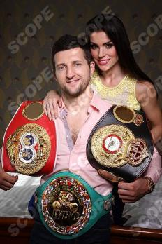 Boxing Champion Carl Froch with family