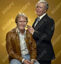 GEORGE COLE AND DENNIS WATERMAN FROM THE TV SERIES MINDER - 1979. THESE ARE THE FIRST PROMOTIONAL PICTURES FOR THE SHOW. REF: 10111JP MUST CREDIT JOHN PAUL/SCOPEFEATURES.COM