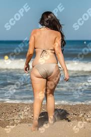 Vicky Shore Looks Swell! Vicky Pattison star of TV series Geordie Shore takes to the beach on holiday in Marbella - 2013 These pictures of Geordie Shore star Vicky Pattinson are a far cry from her glamorous on-screen image The 25-year-old has suffered from a series of cruel Twitter jibes about her weight in the past . The Tv reality star, who has almost a million followers on twitter, may be feeling the blues after splitting from boyfriend Ricci Guarnaccio and but Mr Right can't be be far away. It's just a weighting game! The new series of Geordie Shore begins July 9th REF NO: 75406 MUST CREDIT : MARKBOURDILLION/SCOPEFEATURES.COM MUST NOT BE USED WITHOUT PERMISSION