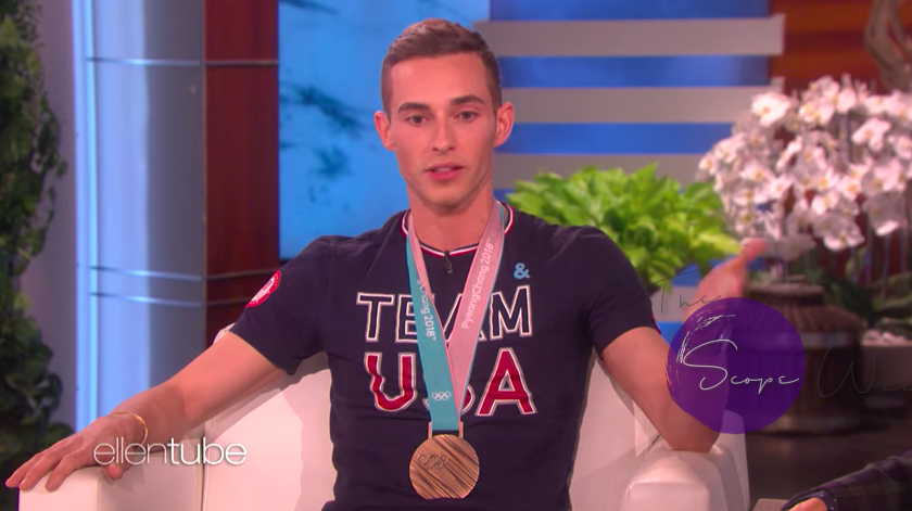 Olympian Adam Rippon on The Ellen Show
