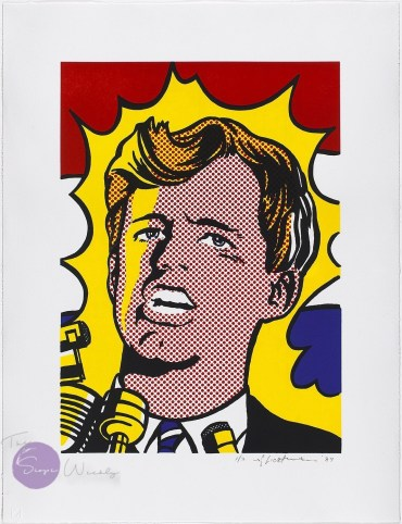 bobby Kennedy painted by Roy Lichenstein