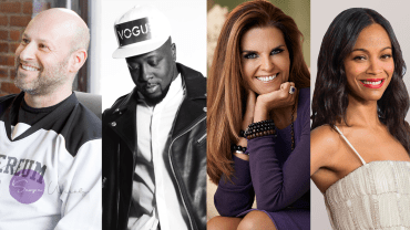 Joseph Lubin & Featured Speakers Wyclef Jean, Maria Shriver, Zoe Saldana