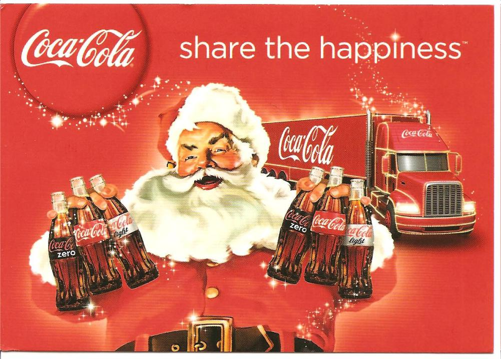santa claus is coming to town. coca cola