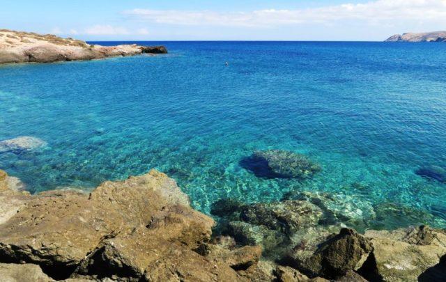 Il mare dal porto di Naxos