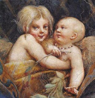 Sufetta di Diana e Atteone affresco Parmigianino