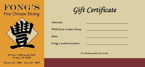custom gift certificates scorecards unlimited