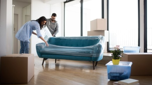 couple bought a new couch from Wayfair
