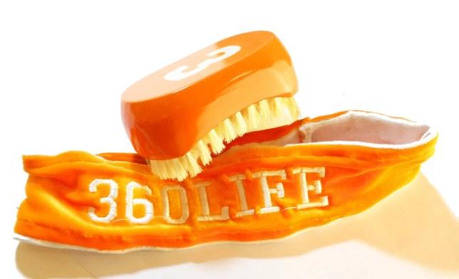 Florida Orange 540 Wave Brush & 360Life Velvet Head Band