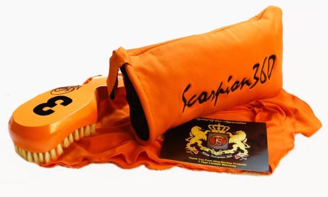 Medium-Soft Florida Orange Wave Brush Gift Set Bundle Set