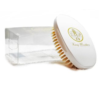 White Medium Hard Wave Brush