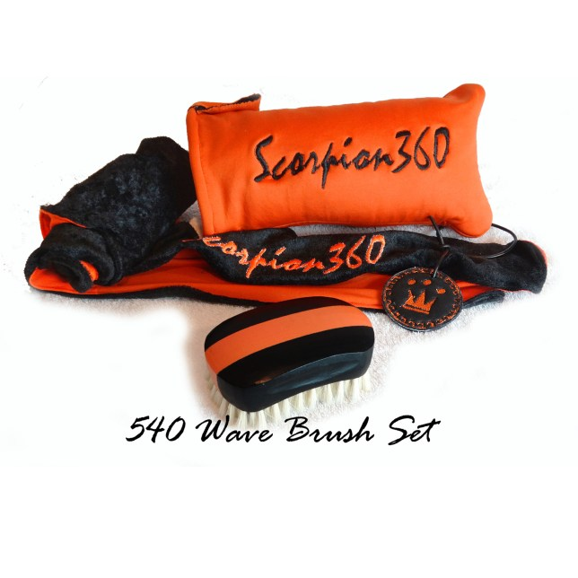 King Scorpion 360 Soft Wide Mouth 540 wave Brush Bundle Set