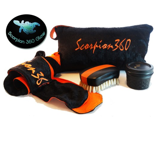 King Scorpion 540 Wide Mouth Soft Wave Brush Bundle Package