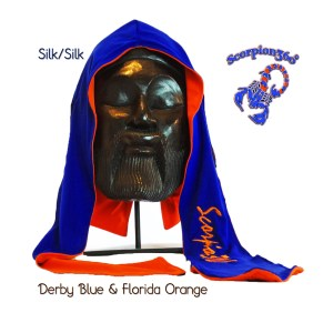 Derby Blue and Florida Orange Large Reversible Fat Lace Durag