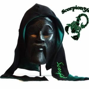 Large Fat-Lace Reversible Silk Du-Rag | Panther Black & Hunter Green