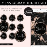 Black Marble Instagram Highlights Rose Gold Scotch And Salt