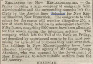 """Sidonian"" 11 April 1874; The ""Sidonian"" leaves Glasgow. via Callum Stuart, FB Chapman, Cumming, & Duncan Family History, April 12, 2014;"
