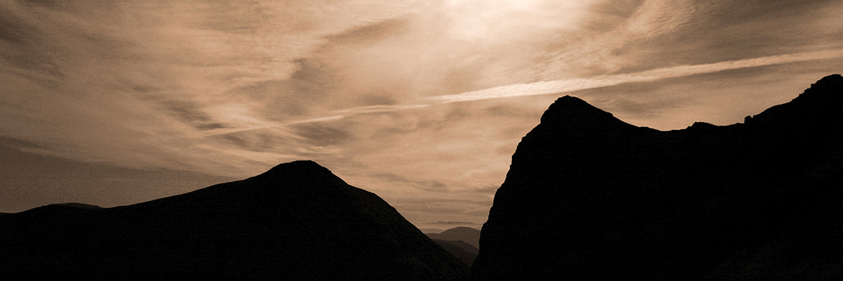 Photo of Lord Reay's Seat Foinaven, Sutherland, silhouette