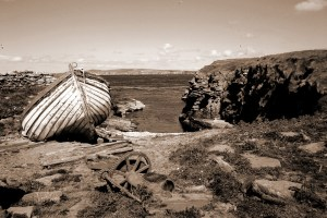 Photo of the Haven natural harbour on the remote island of Swona
