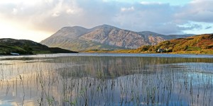 Photo of Arkle from the southern end of Loch Stack late on a summer evening