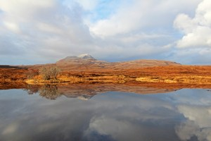 Photo of Canisp from the north end of Assynt's Loch Awe
