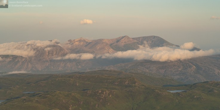 Photo - Hazy Misty Foinaven from Ben Hope
