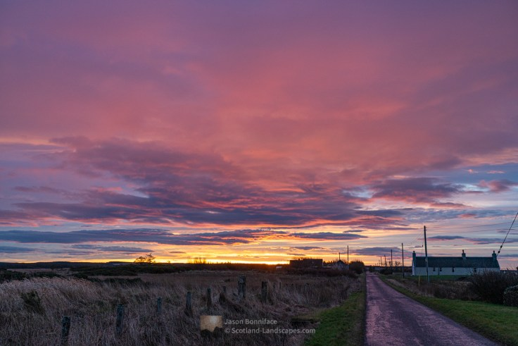 Photo of sunrise developing, Caithness