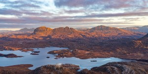 Suilven and Canisp in Morning Light, Assynt & Ullapool