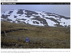 Loads of old snow at Glencoe Mountain Resort (Meall a' Bhuiridh) 11th May 2020, from Winterhighland.