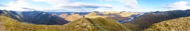 Beinn Fhionnlaidh Summit Panorama, Glen Affric
