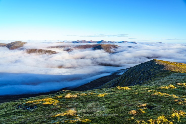 Across the Clouds to the Strathfarrar Hills from Toll Creagach, Glen Affric