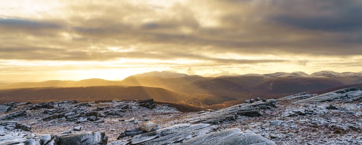 Ben Hee and the Reay Forest Hills from Creag Riabhach, Ben Hope, Northern Sutherland