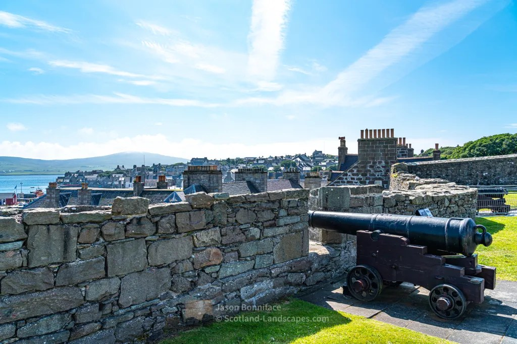 Cannon at Lerwick's Fort Charlotte, Shetland