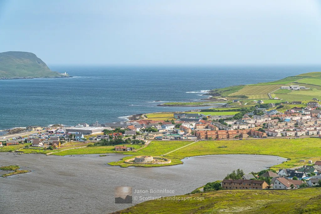Clickimin Broch from South Staney Hill, Shetland