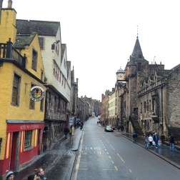 Amazing View of the Royal Mile from the top level of the double decker.