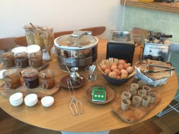 I'm jumping ahead a bit, but this was the breakfast spread down in the restaurant on Easter morning.