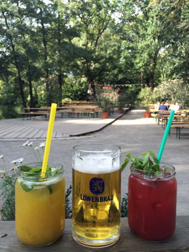 Stopped at this adorable outdoor cafe in the Tiergarten to have lunch. My smoothie was amazing!