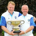 Bowls Scotland Pairs Winners - Tranent BC (left to right) Brian Young & Jim Bonner