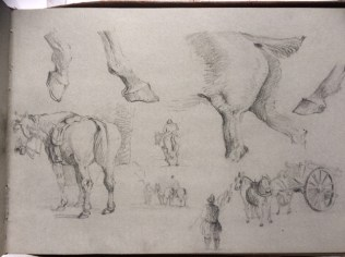 Details of horses by William