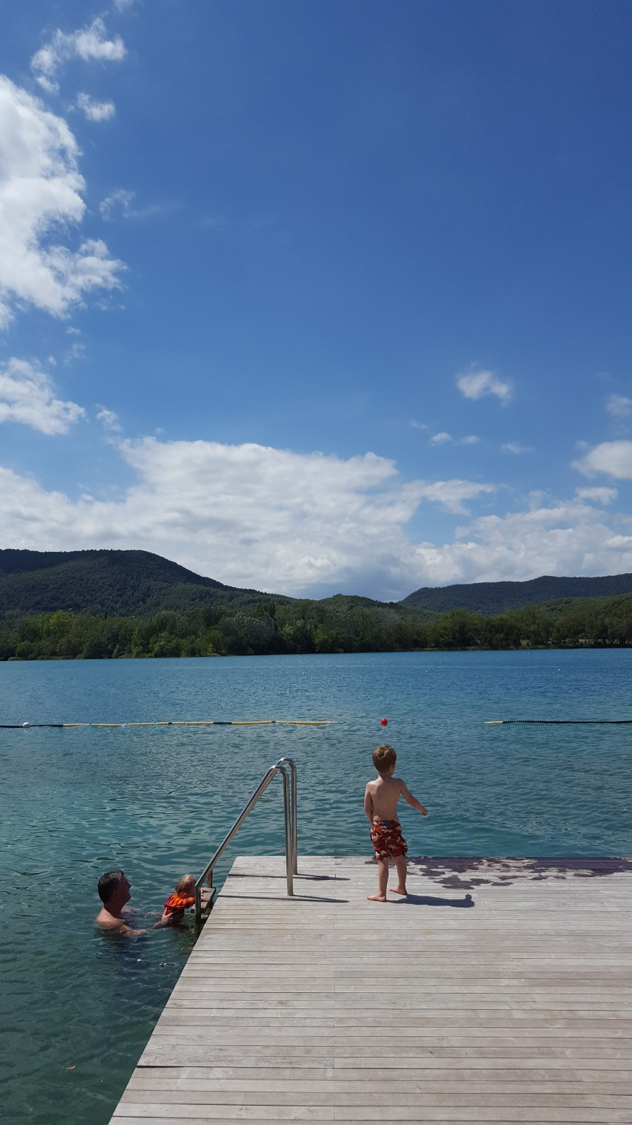 Swimming in Lake Banyoles Catalonia Spain