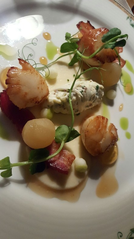 Dining at Ardanaiseig - Scallops